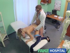 FakeHospital Sexy blonde screams with...