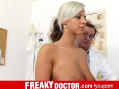 Beautiful czech blonde Nathaly Heaven real vagina exam