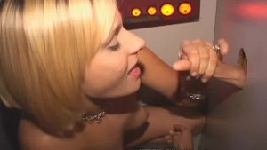 Tall Thin Blondie Blows Glory Hole