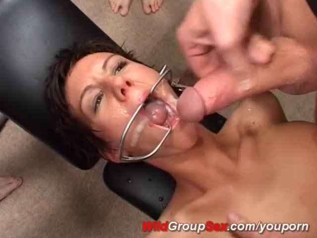 Extreme german gangbang with ginger lang