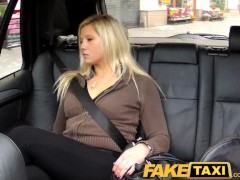 FakeTaxi Blonde talked into sucking a...