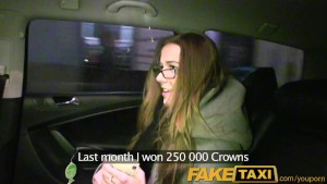 FakeTaxi Young office girl talked into fucking big cock making her orgasm
