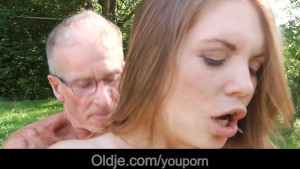 Retired grandpa gets laid with a very young cute girl