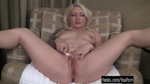Sweet Blonde Olivia Toying Her Pussy