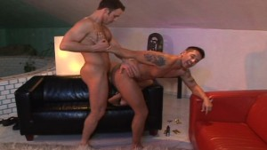 Roommates go straight to fucking as soon as guests leave - Lucas Entertainment