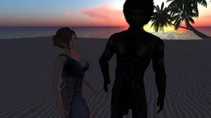 Margot Tourenne du Plessis fait passer son entretien d'embauche à Lailai sur une plage deserte