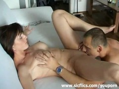 Tattooed amateur milf loves fist fucking orgasms