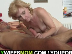 Picture Mother-in-law comes in and helps him out