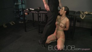 BlowJob BDSM hardcore throat sucking and fucking leads to facial cumshot