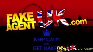 FakeAgentUK Sticky facial for UK pornstar duped into fake casting