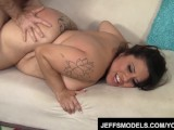Chubby Latina Toosie is filled with fat dick