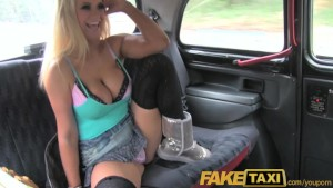 FakeTaxi Busty blonde British pornstar fucks for free ride