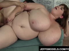 Giant tittied Luxxxie Luxe gets her pussy drilled