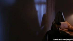 Brett Rossi masturbates in her red high heels