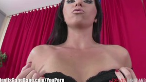 Horny babe Double Anal Creampie gangbang