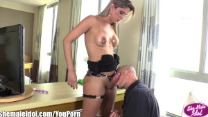 ShemaleIdol Sexy Shemale Fucks guy and Gets Fucked