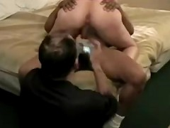 husband watches & records his sexy horny wife riding another man's huge BBC on camera!!!
