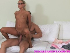 Picture FemaleAgent Big cumshot on MILF agents stoma...