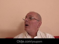 Amber's bikini parade turnes into hot sex with an old man