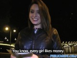 Publicagent Akasha Sex under a public bridge for black haired babe