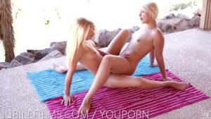 Nubile Films - Sexy blonde lesbians scissoring
