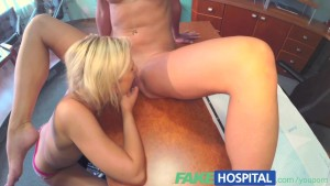 FakeHospital Naughty nurse tests potentially pregnant patients sensitive pussy