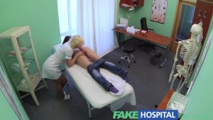 FakeHospital Intense sexual encounter between bisexual patient and blonde nurse
