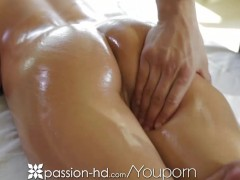 Passion-HD Gorgeous brunette with nice ass gets full body massage