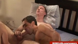 Latino daddies barebacking