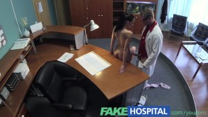 FakeHospital Cock hungry patient wastes no time continuing with her check up