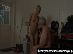 Picture Bald Young Girl 18+ babe suck an old dick