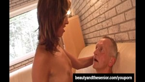 Teen babe fuck an old dude well