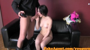 FakeAgent Shy Brunette amateur pumped full of cum in Casting