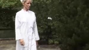 Gorgeous nurse taking two cocks