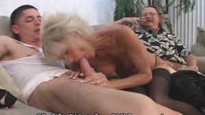 Mature Takes Cum From Young Stud & Hubby