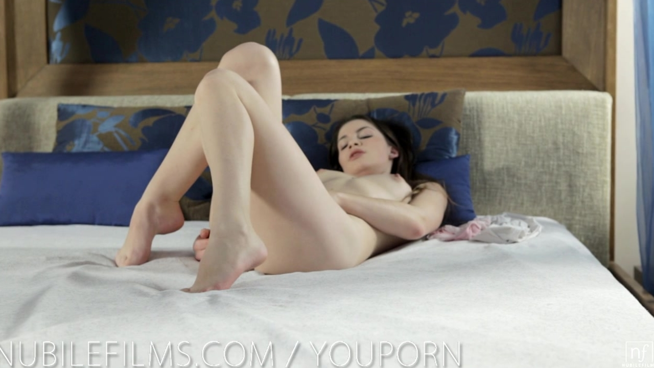 Nubile Films - Hot little pussy hungry for orgasm
