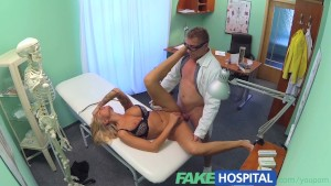 FakeHospital Dirty doctor steps in to cure sexy patients claustrophobia with his medicinal cock