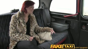 FakeTaxi Tit flash for taxi cash