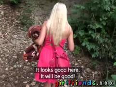 Girlfriends Amazing Blonde lesbians make hot public sextape