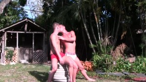 Outdoor threesome - Cum Pig Men