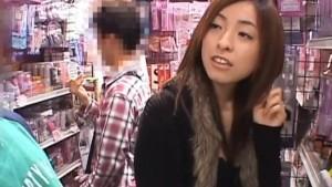 Saya Yukimi is doggy nailed at the store