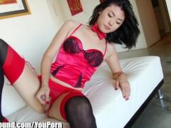 TSPlayground Beautiful Asian Ladyboy Touching Cock