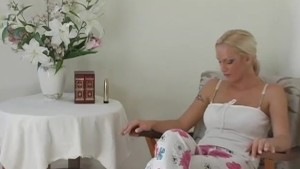 Blonde Gets Off On A Vibrator And Her Fingers  - CRITICAL X