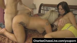 Charlee Chase big tit slutty MILF threeway