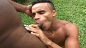 Beefy and Muscular Gays Fuck and Suck in the Yard
