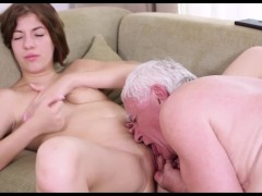Rita likes the taste of old cock and the experience of old men