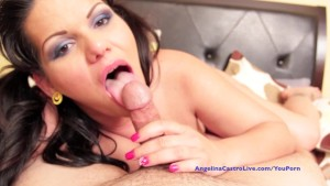 Angelina Castro Give the best POV Blowjob and gets Cumshot!