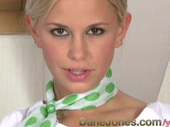 DaneJones Cute unifrom blonde playing...