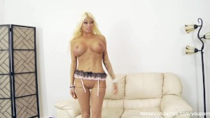 Russian Milf Nikita takes on big Asian dick