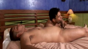 Sexy Pounding Fuck of Beefy Gays on a Cozy Bed